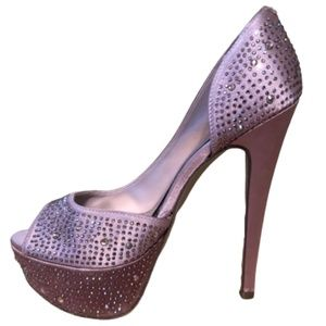 BAKERS Palace Studded Pink Open Toe Heels Size 7